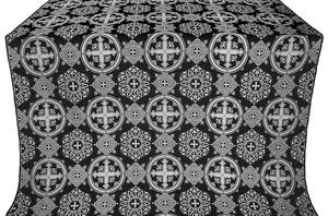 Carpathian silk (rayon brocade) (black/silver)