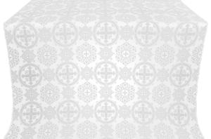 Carpathian silk (rayon brocade) (white/silver)