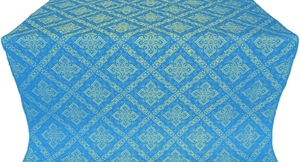 Simeonov silk (rayon brocade) (blue/gold)