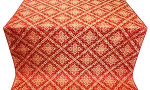 Simeonov silk (rayon brocade) (red/gold)