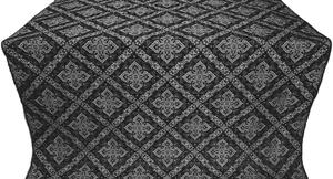 Simeonov silk (rayon brocade) (black/silver)