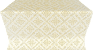Simeonov silk (rayon brocade) (white/gold)