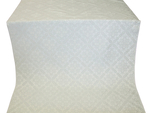 Simeonov silk (rayon brocade) (white/silver)