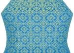 Kolomna posad silk (rayon brocade) (blue/gold)