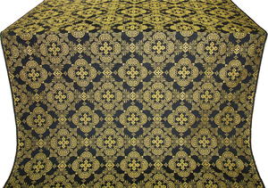 Kolomna posad silk (rayon brocade) (black/gold)
