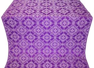 Kolomna posad silk (rayon brocade) (violet/silver)