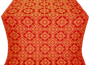Kolomna posad silk (rayon brocade) (red/gold)