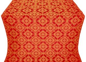 Kolomna posad silk (rayon brocade) (red/gold)
