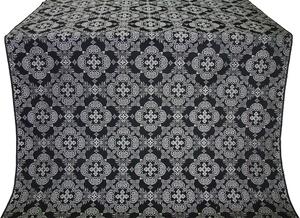 Kolomna posad silk (rayon brocade) (black/silver)