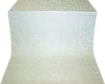 Kolomna posad silk (rayon brocade) (white/silver)