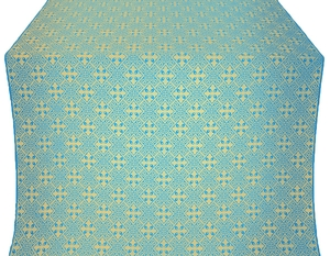 Stone Flower silk (rayon brocade) (blue/gold)