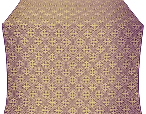 Stone Flower silk (rayon brocade) (violet/gold)
