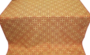 Stone Flower silk (rayon brocade) (red/gold)