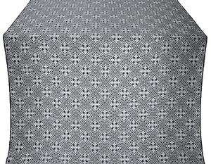 Stone Flower silk (rayon brocade) (black/silver)