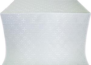 Stone Flower silk (rayon brocade) (white/silver)