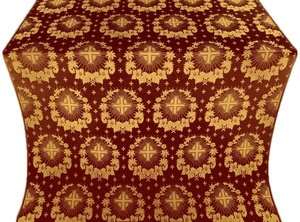 Nativity Star metallic brocade (claret/gold)