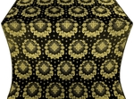 Nativity Star metallic brocade (black/gold)