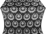 Nativity Star metallic brocade (black/silver)