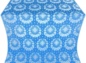 Nativity Star silk (rayon brocade) (blue/silver)