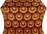 Nativity Star silk (rayon brocade) (claret/gold)