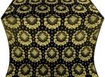 Nativity Star silk (rayon brocade) (black/gold)