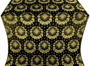 Nativity Star silk (rayon brocade) (black/gold)