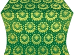 Nativity Star silk (rayon brocade) (green/gold)