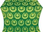 Nativity Star silk (rayon brocade) (green/gold)