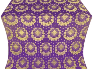 Nativity Star silk (rayon brocade) (violet/gold)