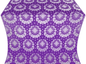 Nativity Star silk (rayon brocade) (violet/silver)