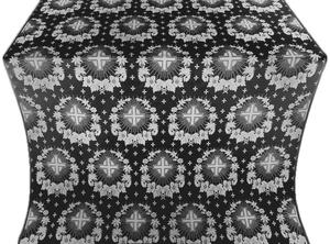Nativity Star silk (rayon brocade) (black/silver)