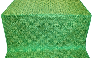 Jerusalem Cross silk (rayon brocade) (green/gold)