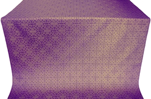 Jerusalem Cross silk (rayon brocade) (violet/gold)