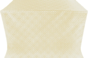 Jerusalem Cross silk (rayon brocade) (white/gold)