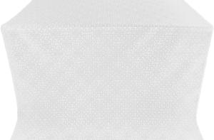 Jerusalem Cross silk (rayon brocade) (white/silver)