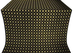 Snowflake silk (rayon brocade) (black/gold)