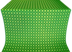 Snowflake silk (rayon brocade) (green/gold)