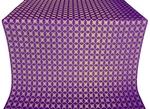 Snowflake silk (rayon brocade) (violet/gold)