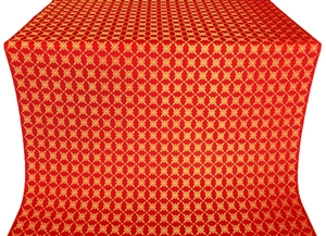 Snowflake silk (rayon brocade) (red/gold)