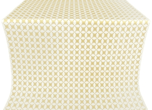 Snowflake silk (rayon brocade) (white/gold)
