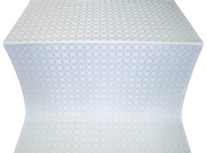 Snowflake silk (rayon brocade) (white/silver)