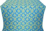 Ajur Cross metallic brocade (blue/gold)