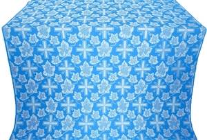 Ajur Cross metallic brocade (blue/silver)