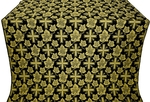 Ajur Cross metallic brocade (black/gold)