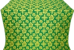 Ajur Cross metallic brocade (green/gold)