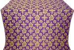 Ajur Cross metallic brocade (violet/gold)