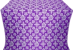Ajur Cross metallic brocade (violet/silver)
