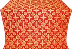 Ajur Cross metallic brocade (red/gold)