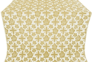 Ajur Cross metallic brocade (white/gold)
