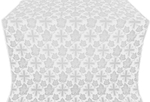 Ajur Cross metallic brocade (white/silver)